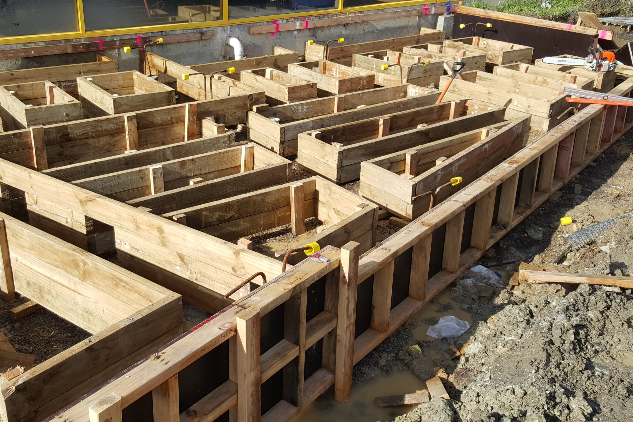 formwork for reinforment in ground beams